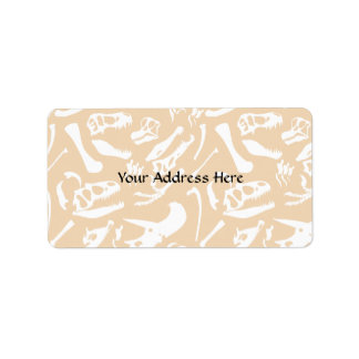 Dinosaur Bones (Gold) Address Label