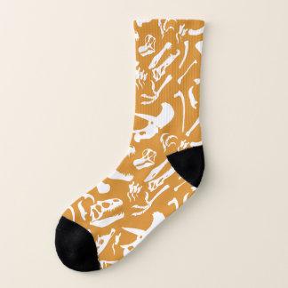 Dinosaur Bones (Gold) Socks