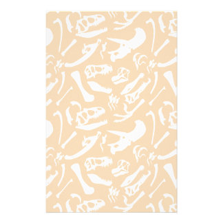 Dinosaur Bones (Gold) Stationery