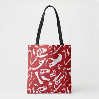 Dinosaur Bones (Red) Tote Bag