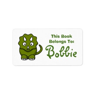 Dinosaur Book Name Label Address Label