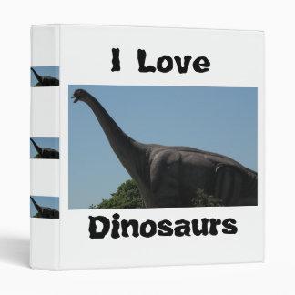 Dinosaur Brontosaurus Vinyl Binder