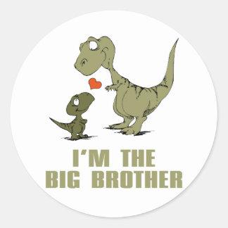 Dinosaur Brothers Round Sticker