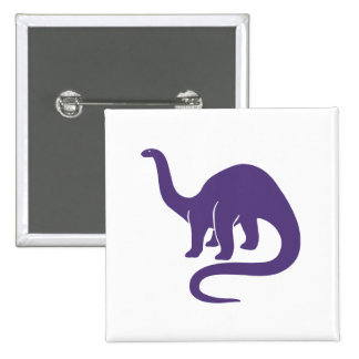 Dinosaur Button Purple