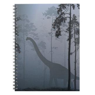 Dinosaur by Moonlight Notebook