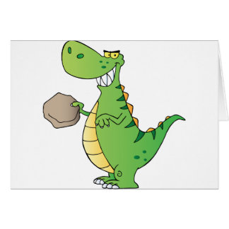 Dinosaur Cartoon Character Card