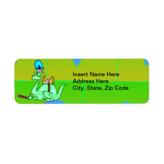 Dinosaur Catering Service Return Address Label