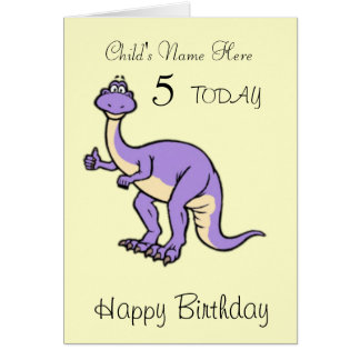 Dinosaur Child's Personalised Birthday Card