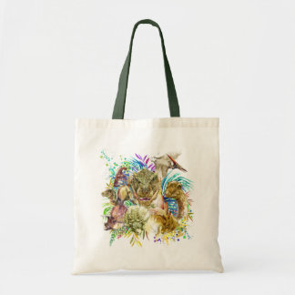 Dinosaur Collage Budget Tote Bag