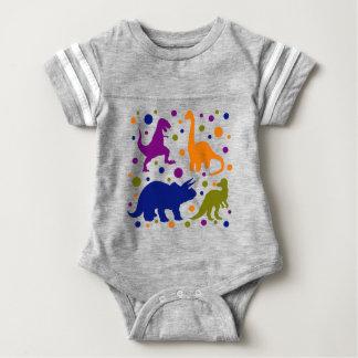 Dinosaur colourful polka dot baby kids baby bodysuit