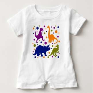 Dinosaur colourful polka dot baby kids baby romper