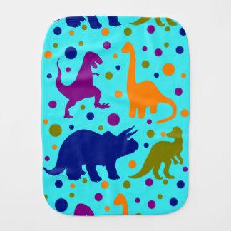 Dinosaur colourful polka dot baby kids burp cloth