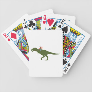Dinosaur Cowboy Poker Deck