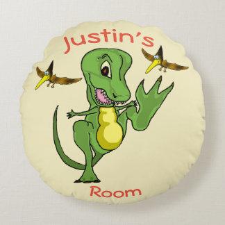 Dinosaur Custom Round Throw Pillow