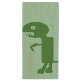 Dinosaur Dino Art by Kids :) USB Flash Drive Wood USB 3.0 Flash Drive