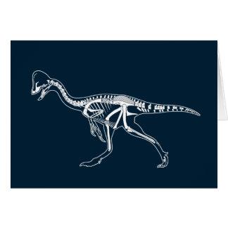 Dinosaur, Dino, Saurus Skeleton Illustration Card