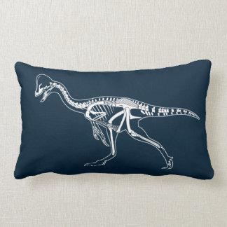 Dinosaur, Dino, Saurus Skeleton Illustration Lumbar Pillow