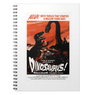 Dinosaur, Dino, Saurus Vintage Retro Cinema Notebooks