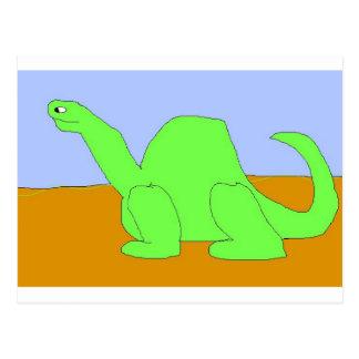 Dinosaur Drawing Postcard