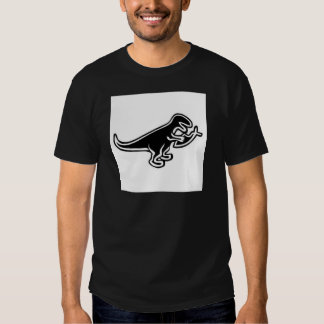 Dinosaur Eating Jesus Fish Tee Shirts
