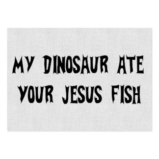 Dinosaur Eats Jesus Fish Large Business Cards (Pack Of 100)
