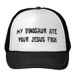 Dinosaur Eats Jesus Fish Mesh Hat
