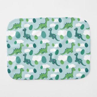 Dinosaur eggs baby burp cloth. burp cloth