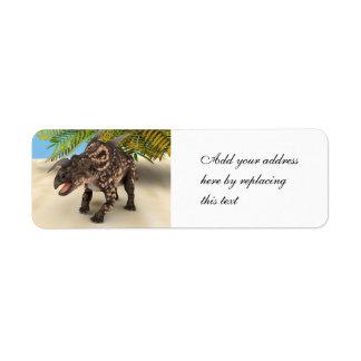 Dinosaur Einiosaurus Labels