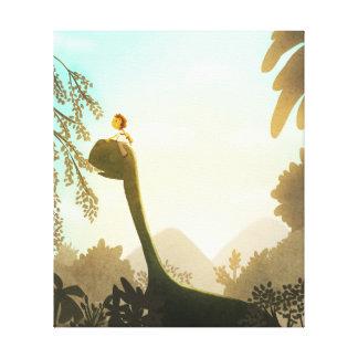 """Dinosaur Fantasy Nursery Art """"Morning Snack"""" Med Canvas Prints"""
