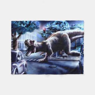 Dinosaur Fantasy Small Fleece Blanket