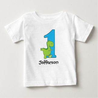 Dinosaur First Birthday Tshirt Personalized