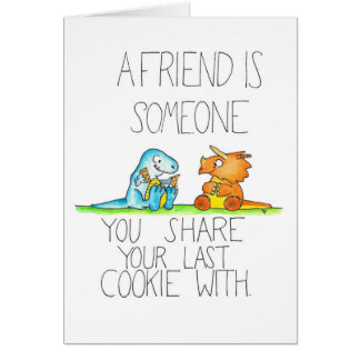 DINOSAUR FRIENDS 2 greeting card by Nicole Janes