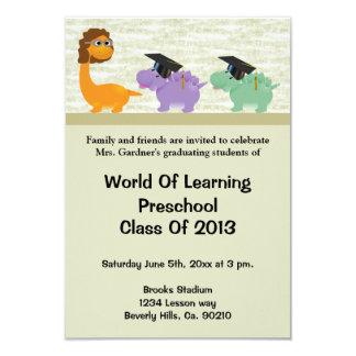 Dinosaur Fun Preschool Or Kindergarten Graduation Card