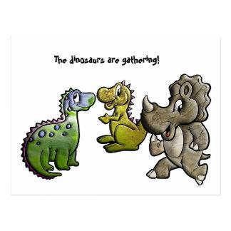 Dinosaur Gathering Postcard