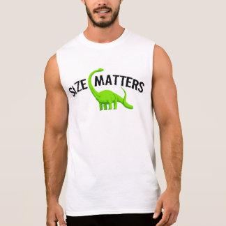 Dinosaur Gift: Size matters Sleeveless Shirt