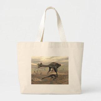 dinosaur_gigantoraptor_walking_landscape_standard. large tote bag
