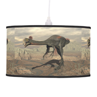 dinosaur_gigantoraptor_walking_landscape_standard. pendant lamp