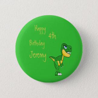 Dinosaur Green Cute Boys Age Birthday 2 Inch Round Button