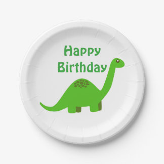 Dinosaur Happy Birthday Party Paper Plate 7 Inch Paper Plate