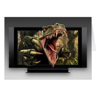 Dinosaur HDTV Greeting Card