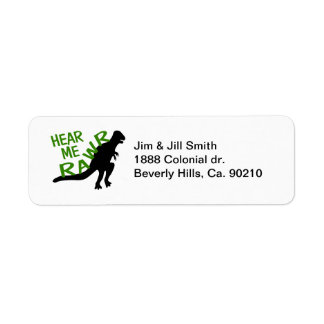Dinosaur Hear Me Rawr Return Address Label