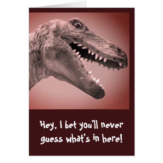 Dinosaur Humour Card