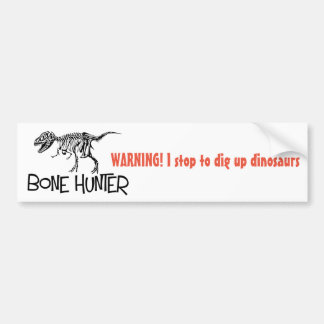 Dinosaur Hunter bumper sticker