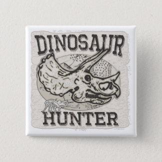 Dinosaur Hunter Design by Mudge Studios 2 Inch Square Button