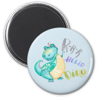 Dinosaur Illustration Magnet