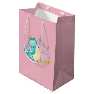 Dinosaur Illustration Medium Gift Bag