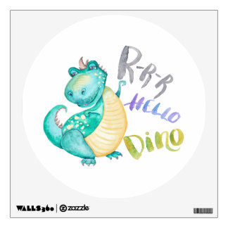 Dinosaur Illustration Wall Decal