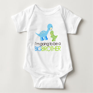 Dinosaur I'm Going to Be A Big Brother Baby Bodysuit