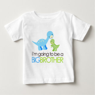 Dinosaur I'm Going to Be A Big Brother Baby T-Shirt