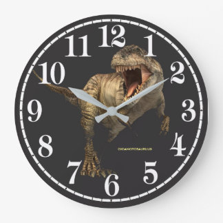 Dinosaur image for Round (Large) Wall Clock